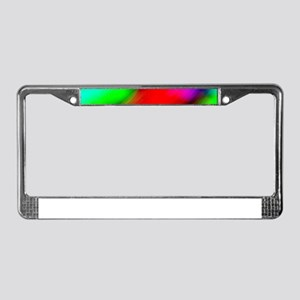 psychedelic rainbow art License Plate Frame