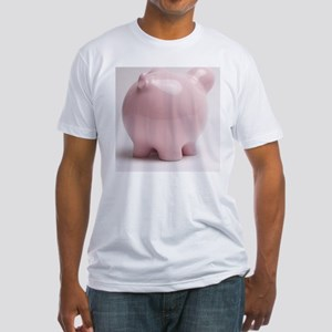 funny piggy bank butt photo Fitted T-Shirt