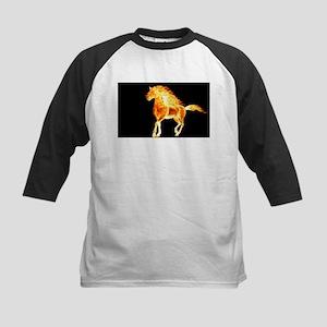 fire horse black orange Baseball Jersey