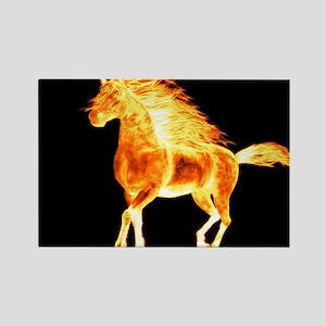 fire horse black orange Magnets