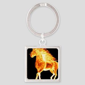 fire horse black orange Keychains