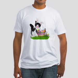 Easter Kitten with Basket of Colored Eggs T-Shirt