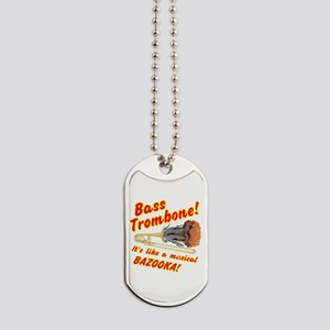 Bass Trombone Musical Bazooka Dog Tags