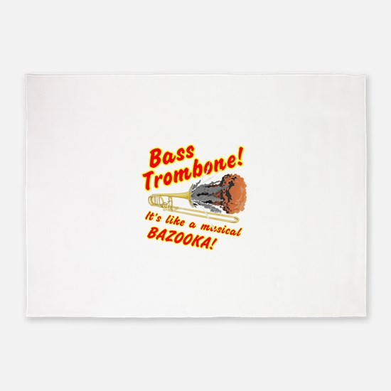 Bass Trombone Musical Bazooka 5'x7'Area Rug