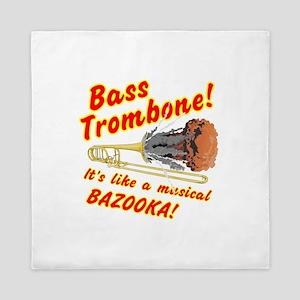 Bass Trombone Musical Bazooka Queen Duvet