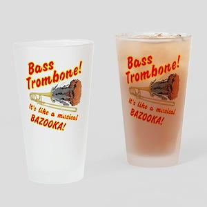 Bass Trombone Musical Bazooka Drinking Glass
