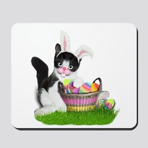 Easter Kitten with Basket of Colored Egg Mousepad