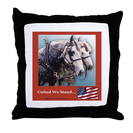 Percheron Patriots Throw Pillow