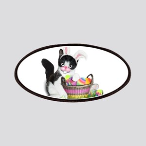 Easter Kitten with Basket of Colored Eggs Patch