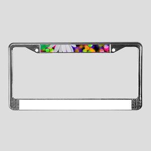 happy birthday daisy plur License Plate Frame