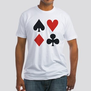 Suits Poker Rank Fitted T-Shirt