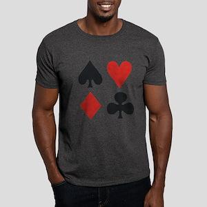 Suits Poker Rank Dark T-Shirt