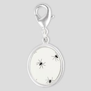 creepy spiders black white Charms