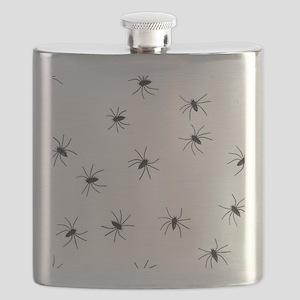 creepy spiders black white Flask