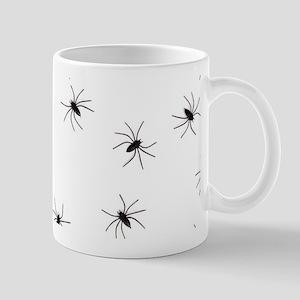 creepy spiders black white Mugs