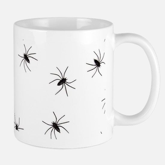 creepy spiders black white Mugs