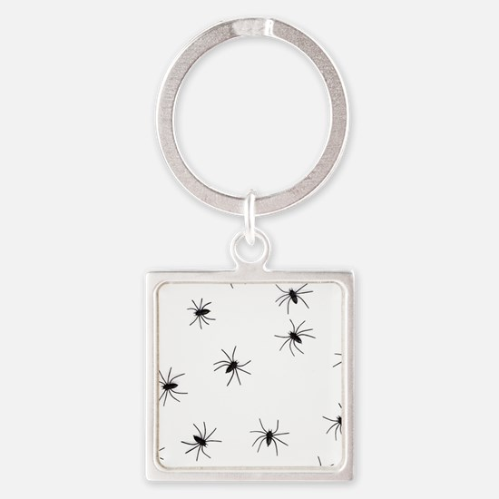 creepy spiders black white Keychains