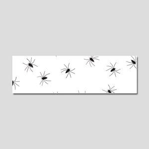 creepy spiders black white Car Magnet 10 x 3