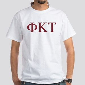 Phi Kappa Tau Letters White T-Shirt