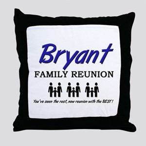 Bryant Family Reunion Throw Pillow