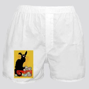 Happy Easter - Le Chat Noir   Boxer Shorts