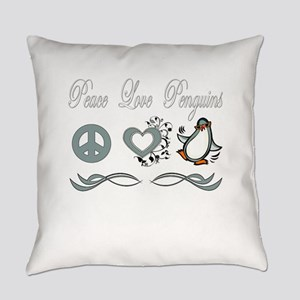 Peace love poker Everyday Pillow