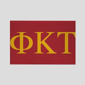 Phi Kappa Tau Letters Rectangle Magnet