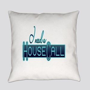 10x10_apparel housecall black Everyday Pillow