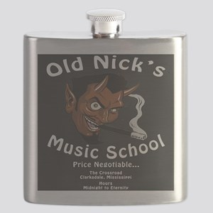 Old Nick's Music School Flask