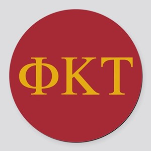 Phi Kappa Tau Letters Round Car Magnet