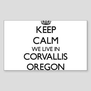 Keep calm we live in Corvallis Oregon Sticker
