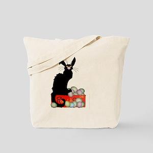 Happy Easter - Le Chat Noir Tote Bag