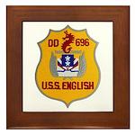 USS ENGLISH Framed Tile