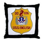 USS ENGLISH Throw Pillow