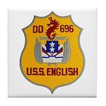 USS ENGLISH Tile Coaster