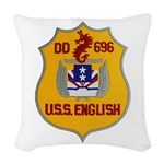 USS ENGLISH Woven Throw Pillow