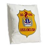 USS ENGLISH Burlap Throw Pillow