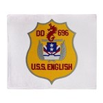 USS ENGLISH Throw Blanket