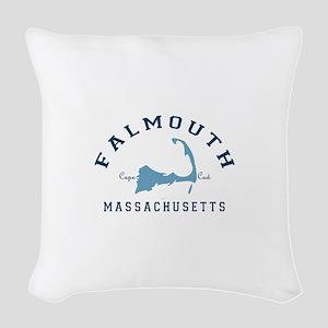 Falmouth - Cape Cod. Woven Throw Pillow