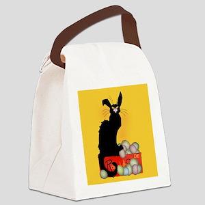 Happy Easter - Le Chat Noir Canvas Lunch Bag