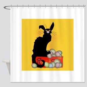 Happy Easter - Le Chat Noir Shower Curtain