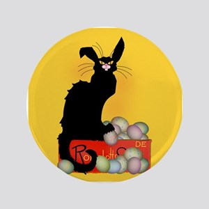 "Happy Easter - Le Chat Noir 3.5"" Button"
