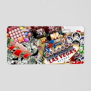 Las Vegas Icons - Gamblers Aluminum License Plate