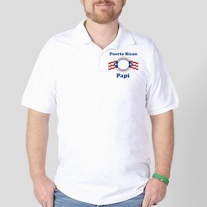 Puerto Rican Papi Golf Shirt