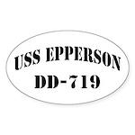 USS EPPERSON Sticker (Oval)