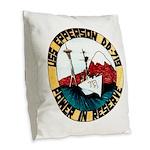 USS EPPERSON Burlap Throw Pillow