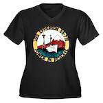 USS EPPERSON Women's Plus Size V-Neck Dark T-Shirt