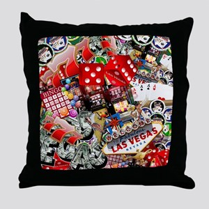 Las Vegas Icons - Gamblers Delight Throw Pillow