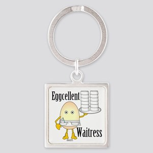 Eggcellent Waitress Square Keychain