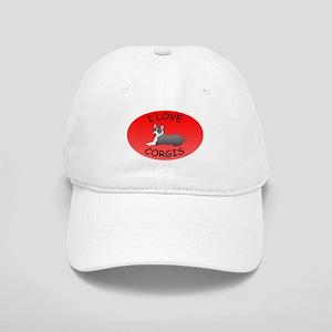 I Love Corgis Cap